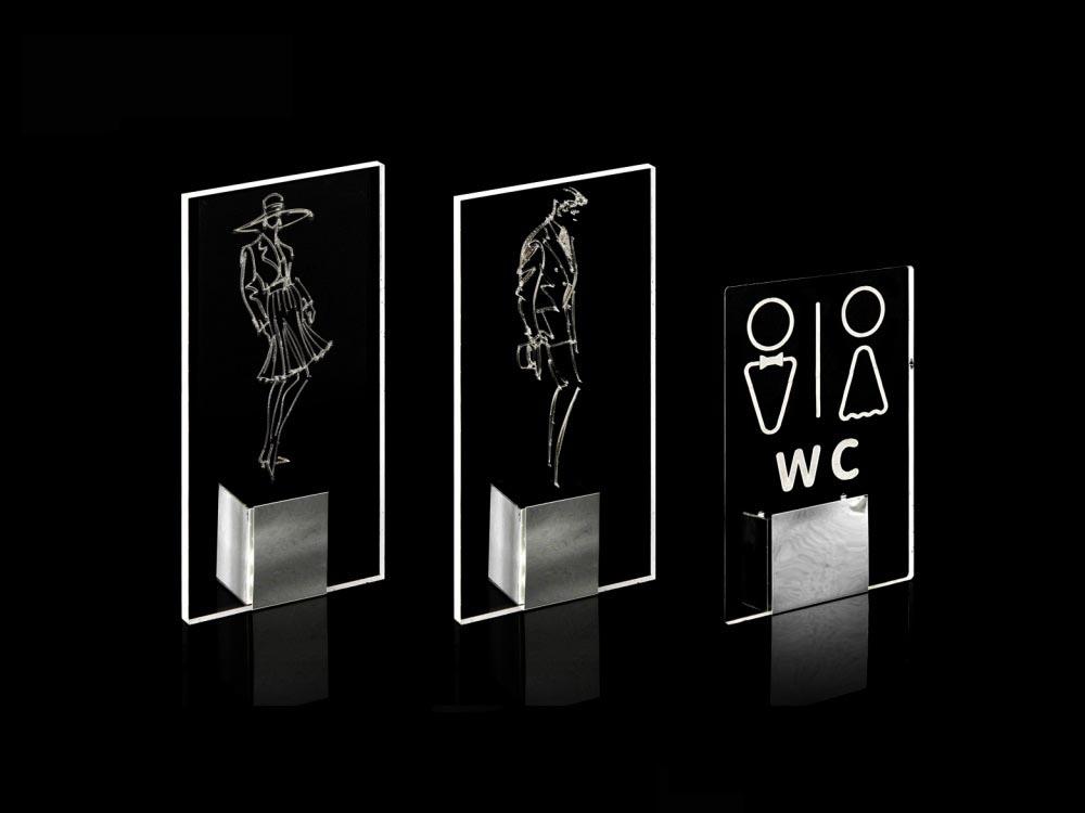 Dekoratif Lazer Kazıma LED Aydınlatma / İkili WC Lamba
